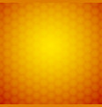 abstract orange background honeycomb ornament vector image