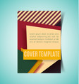 abstract report cover3 vector image vector image