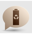 Battery recycle sign Brown gradient vector image vector image