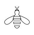 bee black color icon vector image vector image