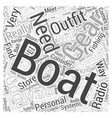 Boating Gear Word Cloud Concept vector image vector image