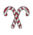 candy cane design vector image vector image