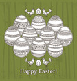 card for easter holidays with geometric decorated vector image vector image
