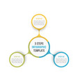 circle infographics - three elements vector image vector image