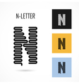 Creative N - letter icon abstract logo design vector image