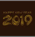 creative new year 2019 poster design vector image vector image