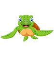 Cute baby turtle vector image vector image
