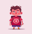 cute boy character cartoon vector image