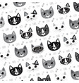 cute cat series vector image vector image