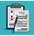 Document and pen icon Tax and Financial item vector image vector image