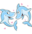 dolphin in love vector image