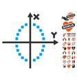 ellipse plot icon with dating bonus vector image vector image