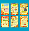 fast food meals menu posters vector image vector image
