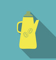 french press coffee maker flat material design vector image vector image