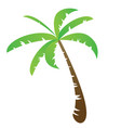 funny palm tree vector image