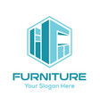 furniture logo design inspiration vector image