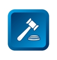 gavel judge isolated icon vector image vector image