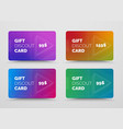 gift card design with soft blended gradients and vector image vector image