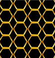 Golden honey cell background vector image