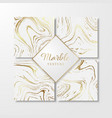 golden marble design templates for invitation vector image