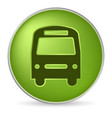 green bus icon vector image