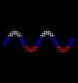 halftone russian sinusoid wave icon vector image vector image