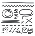 Hand Drawn Icon Doodle Set vector image vector image