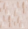 hand drawn naive christmas tree seamless pattern vector image vector image