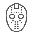 hockey mask line icon helmet and mask vector image