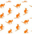 kangaroo seamless pattern vector image vector image