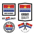 kiribati quality label set for goods vector image vector image