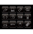 line hi-tech technical equipment icons vector image vector image