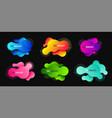 liquid shape promotion banner sticker modern vector image vector image