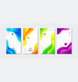 liquid stories templates abstract colorful vector image
