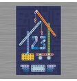 man day building card vector image vector image