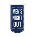 mens night out banner design vector image vector image