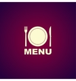 menu with cutlery sign vector image vector image