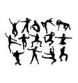modern dancing silhouettes vector image vector image
