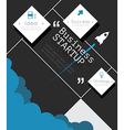 Modern infographic for business startup vector image vector image