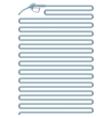 outline filling gun vector image vector image