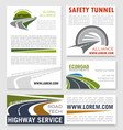 Road and highway service company banners vector image