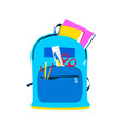 school backpack for children and education concept vector image