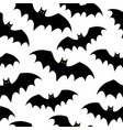 seamless pattern with bats halloween vector image vector image