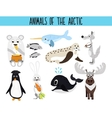 Set of Cute cartoon Animals and birds of the vector image