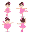 set of isolated girl ballerina vector image