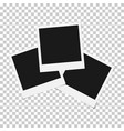 set of mixed blank photo polaroid frame isolated o vector image