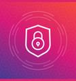 shield icon security symbol vector image vector image