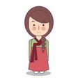 south korean traditional national clothes of korea vector image vector image