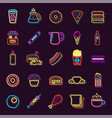 streetfood fast food drink neon sign fastfood vector image