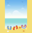 summer vacation summer beach poster vector image vector image